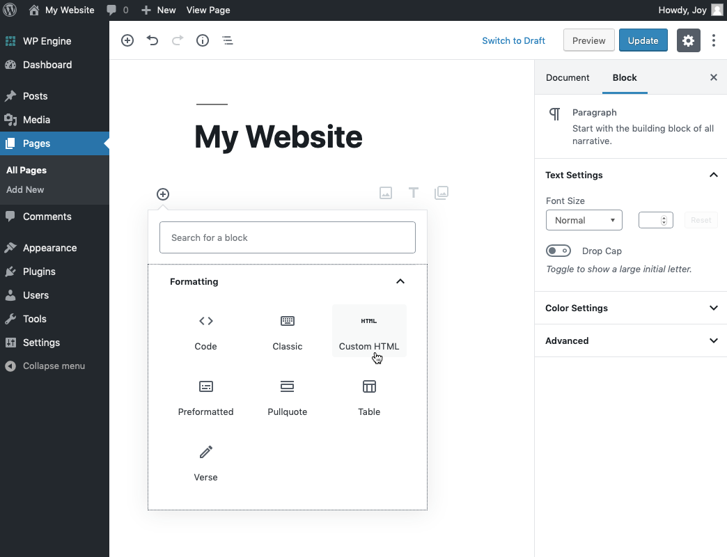 Embed options for Wordpress – Help Center - Calendly